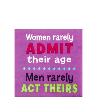 Admit Their Age Birthday Beverage Napkins 16ct