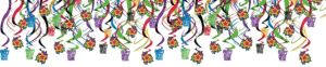 Colorful New Year's Swirl Decorations 30ct