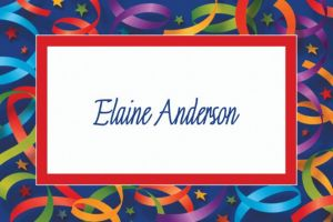 Custom Celebration Streamers Thank You Notes
