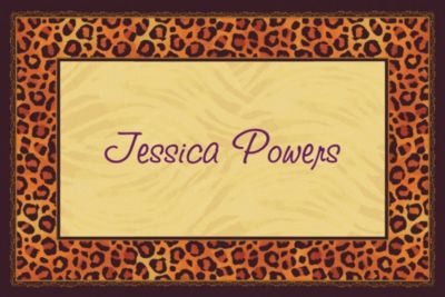 Custom Safari Chic Thank You Notes