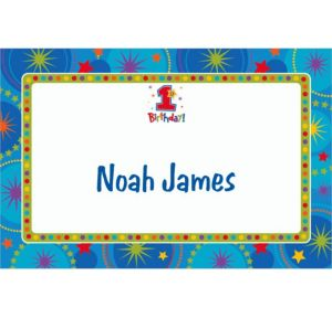Custom One-Derful Boy 1st Birthday Thank You Notes