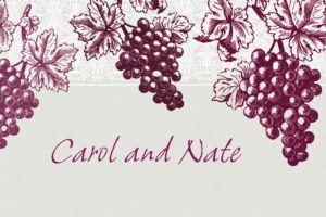 Custom Grape Vine Silhouette Thank You Notes