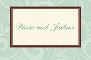 Custom Floating Mint Border Thank You Notes