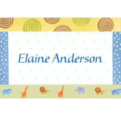 Custom Jungle Animal Patchwork Baby Shower Thank You Notes