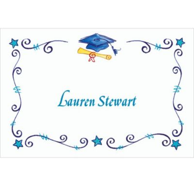Custom Scrollwork Graduation Thank You Notes