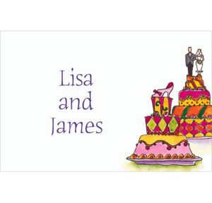Custom Wacky Wedding Cakes Wedding Thank You Notes