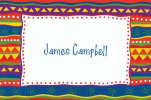 Custom Fiesta Stripes Thank You Notes