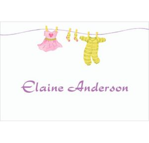 Custom Little Laundry Baby Shower Thank You Notes