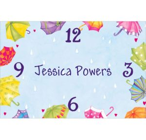 Custom Around-the-Clock Shower Bridal Shower Thank You Notes