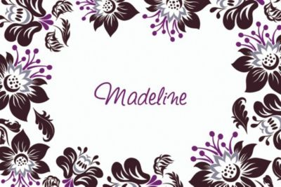 Custom Damask Blossoms Thank You Notes