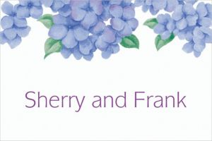 Custom Lively Hydrangeas Thank You Notes