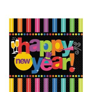 Bright New Year Lunch Napkins 125ct
