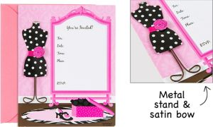Fashionista Large Invitations 8ct