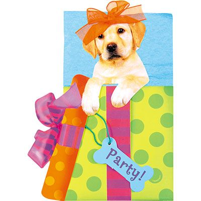 Doggie Days Large Invitations 8ct