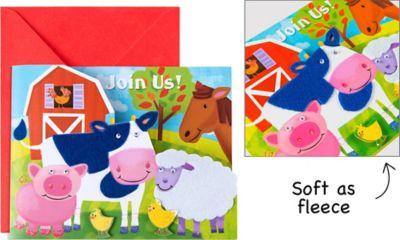 Farm Animals Large Invitations 8ct