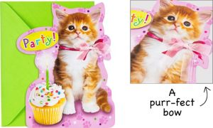 Premium Cuddly Kitten Invitations 8ct