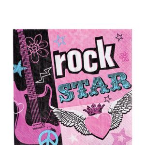 Rocker Girl Lunch Napkins 16ct