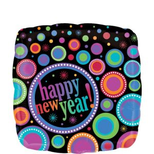 Foil Modern New Years Balloon