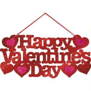 Glitter Valentines Day Message Sign