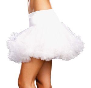 Adult White Ruffle Petticoat