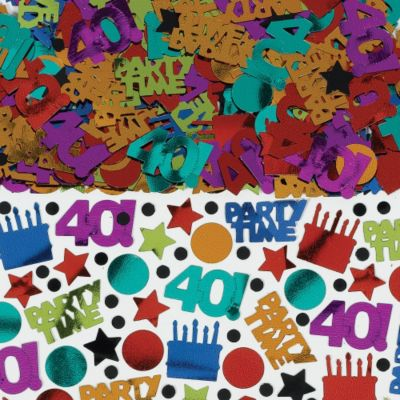 Dots & Stripes 40th Birthday Confetti