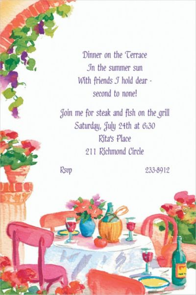 Custom Italian Cafe Invitations