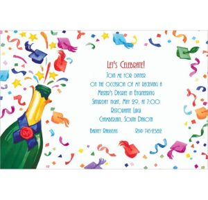 Custom Graduation Champagne Invitations