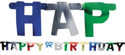Metallic Happy Birthday Letter Banner