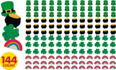 St. Patrick's Day Erasers 144ct