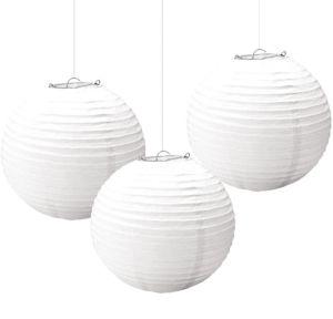 White Paper Lanterns 3ct