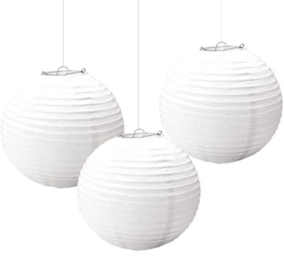White Paper Lanterns 3ct