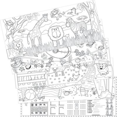 Animal Coloring Sheets 5ct