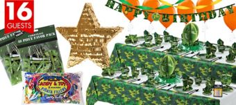 Camouflage Ultimate Party Kit for 16 Guests
