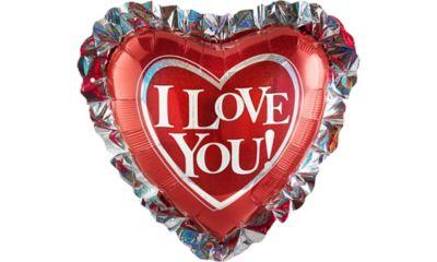 I Love You Balloon - Heart Ruffle