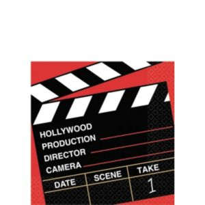 Clapboard Hollywood Beverage Napkins 36ct