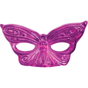 Hot Pink Butterfly Masquerade Mask