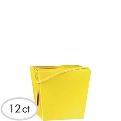 Sunshine Yellow Favor Boxes 12ct