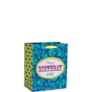 3D Scroll Happy Birthday Gift Bag