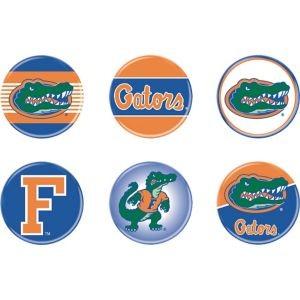 Florida Gators Buttons 6ct