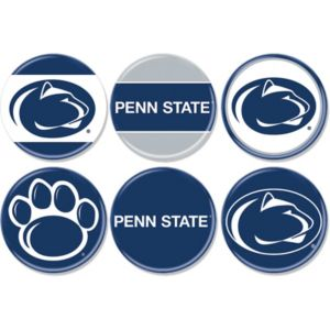Penn State Nittany Lions Buttons 6ct