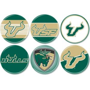 South Florida Bulls Buttons 6ct