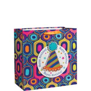 3D Party Hat Birthday Gift Bag 15in