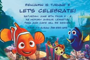 Custom Nemo and Friends Invitations
