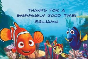 Custom Nemo and Friends Thank You Notes
