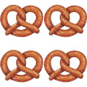 Oktoberfest Pretzel Cutouts 4ct