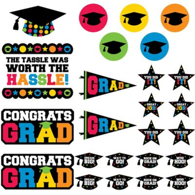 Multicolor Graduation Cutouts 30ct