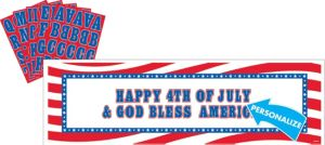 Giant Personalized Patriotic Banner Kit
