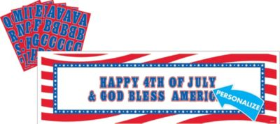 Personalized Patriotic Banner