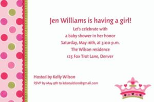 Custom Little Princess Baby Shower Invitations