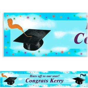 Custom Grad Spirit Banner 6ft
